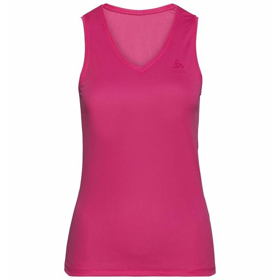 Women's ACTIVE F-DRY LIGHT V-Neck Base Layer Singlet, beetroot purple, large