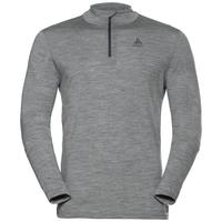 Herren NATURAL 100% MERINO WARM Funktionsunterwäsche Langarm-Shirt, grey melange - grey melange, large