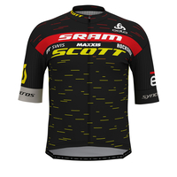 Stand-up collar s/s full zip SCOTT SRAM RACING PRO, SCOTT SRAM 2020, large