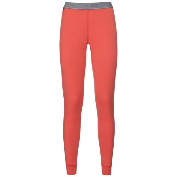 Natural 100 Merino Warm baselayer pants women, hot coral, large