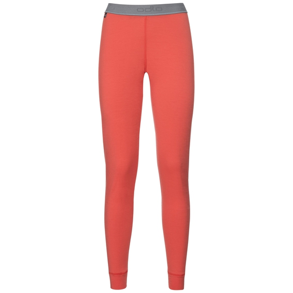 Natural 100 Merino Warm baselayer pants women, hot coral, large