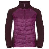 Midlayer full zip X POD HYBRID, pickled beet, large