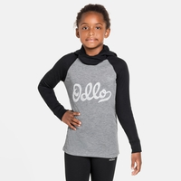 ACTIVE WARM ECO KIDS Long-Sleeve Baselayer Top With Facemask, black - grey melange - graphic FW20, large