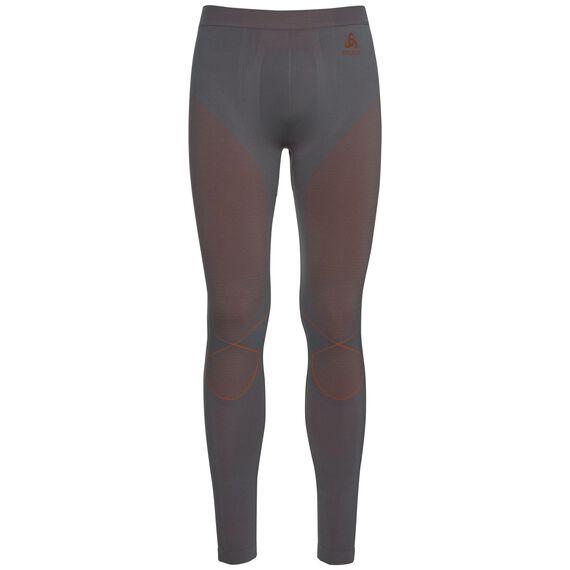 Pants EVOLUTION WARM, odlo steel grey - orangeade, large