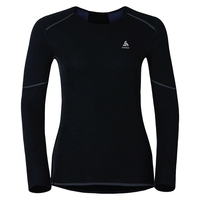 Naadloze onderkleding top met Ronde hals l/m active originals X-Warm, black, large
