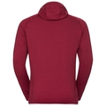 Hoody midlayer full zip MONTAFON, biking red melange, large