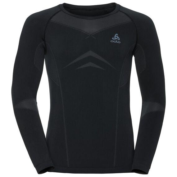 Evolution Light baselayer shirt men, black - odlo graphite grey, large