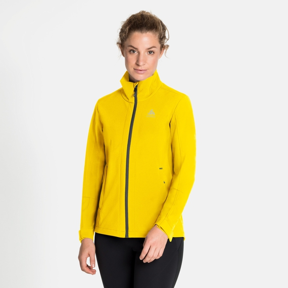 LOLO Softshell-jas voor dames, sulphur, large