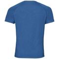 T-shirt s/s AION, energy blue melange - placed print SS18, large