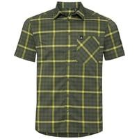 Chemise NIKKO CHECK, four leaf clover - acid lime - climbing ivy - check, large