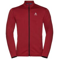Midlayer full zip MYSTERY II, red dahlia, large