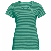 Women's CONCORD ELEMENT T-Shirt, creme de menthe - quetzal green - stripes, large
