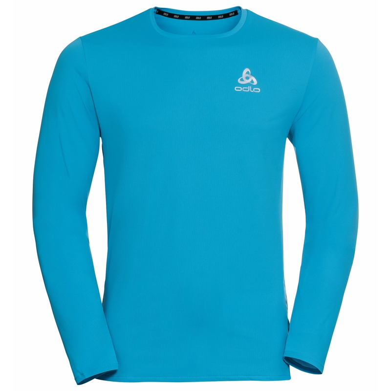 Men's ZEROWEIGHT CHILL-TEC Running Long-Sleeve T-Shirt, horizon blue, large