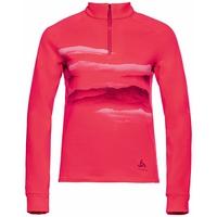 The Berra Graphic mid layer half zip, diva pink, large