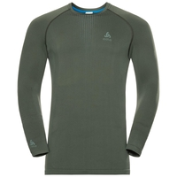 Men's PERFORMANCE WARM Long-Sleeve Base Layer Top, climbing ivy - agave green, large