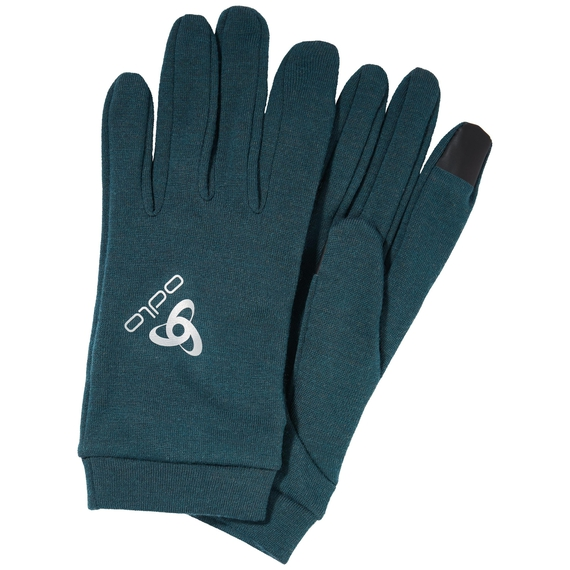 NATURAL+ WARM Gloves, atlantic deep, large
