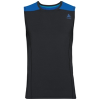 BL top girocollo m/l CeramiCool, black - energy blue, large