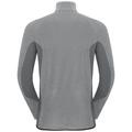 Pull ½ zippé ROYALE pour homme, platinum grey - odlo steel grey - stripes, large