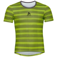 ZEROWEIGHT-fietsbasislaag-T-shirt voor heren, safety yellow - odlo graphite grey, large
