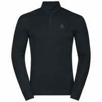 Men's ACTIVE WARM ECO Half-Zip Turtleneck Baselayer Top, black, large