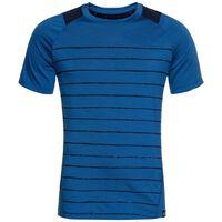 HAUT BL col ras du cou et manches courtes SAIKAI CERAMIWOOL PRINT, energy blue - placed print SS18, large