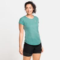Women's MILLENNIUM LINENCOOL T-Shirt, jaded melange, large