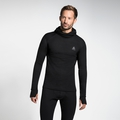 Men's ACTIVE WARM Long-Sleeve Baselayer Top with Face Mask, black, large