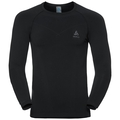 Shirt l/s crew neck EVOLUTION WARM, black - odlo graphite grey, large