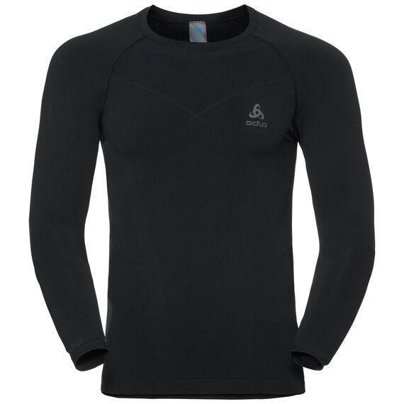 Shirt l/s crew neck EVOLUTION WARM, black - odlo graphite grey, large