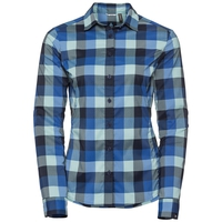 Camicia manica lunga Kumano Check, energy blue - diving navy - nile blue - check, large