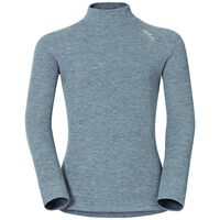 WARM KIDS Baselayer shirt turtleneck, grey melange, large