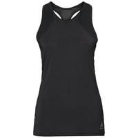 BL top girocollo manica corta Lou Mesh, black, large