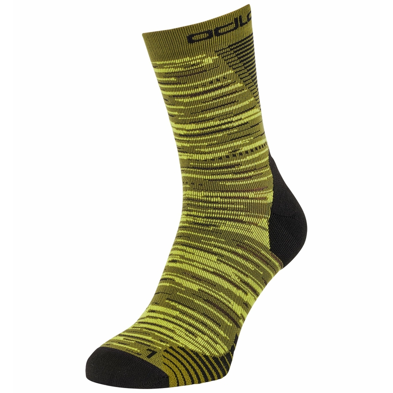 The Ceramicool Run Graphic socks, olivine, large