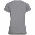 Women's CONCORD T-Shirt, grey melange - leaf print SS20, large