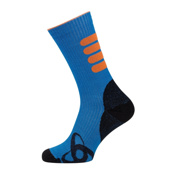 Socks long ALLROUND WARM, mykonos blue - orangeade, large