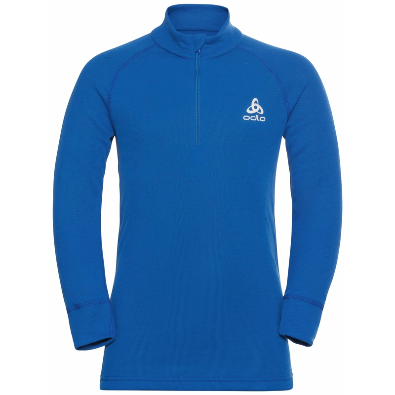 ACTIVE WARM ECO KIDS Long-Sleeve Half-Zip Turtleneck Top, nautical blue, large