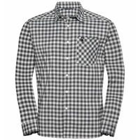 Shirt l/s MYTHEN LO, odlo silver grey - odlo steel grey - snow white - check, large