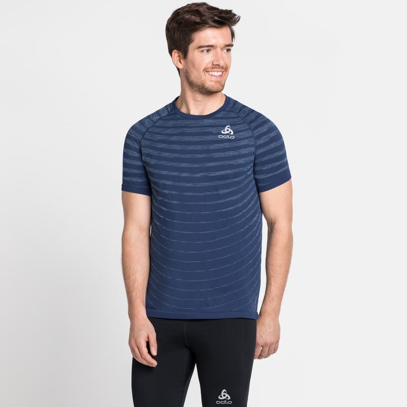 BLACKCOMB-PRO-T-shirt voor heren, estate blue - space dye, large