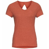 T-shirt HALDEN LINENCOOL da donna, burnt sienna melange, large