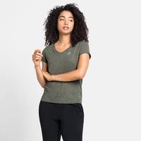 T-shirt HALDEN LINENCOOL da donna, climbing ivy melange, large