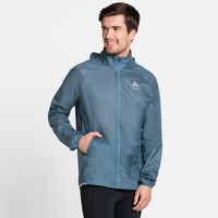 Men's ZEROWEIGHT DUAL DRY WATER-RESISTANT Running Jacket, china blue, large
