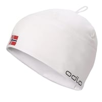POLYKNIT FAN hat, white - NORWEGIAN flag, large