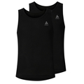 SUW TOP ACTIVE Originals LIGHT Unterhemd mit Rundhalsausschnitt im 2er-Pack, black, large