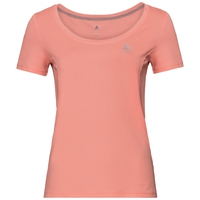 Damen F-DRY T-Shirt, coral haze, large