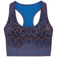 Sports Bra BLACKCOMB SEAMLESS MEDIUM, energy blue - fiery red, large