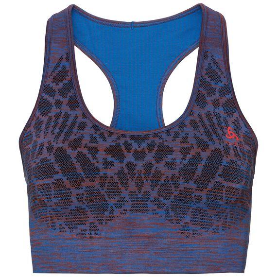 Sports Bra BLACKCOMB Seamless MEDIUM, energy blue - fiery red, large