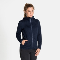 Midlayer con cappuccio e zip intera CORVIGLIA KINSHIP da donna, diving navy, large