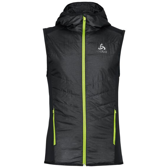 Vest IRBIS X-Warm, black - safety yellow, large