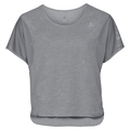 BL TOP cropped crew neck s/s MAIA, grey melange, large