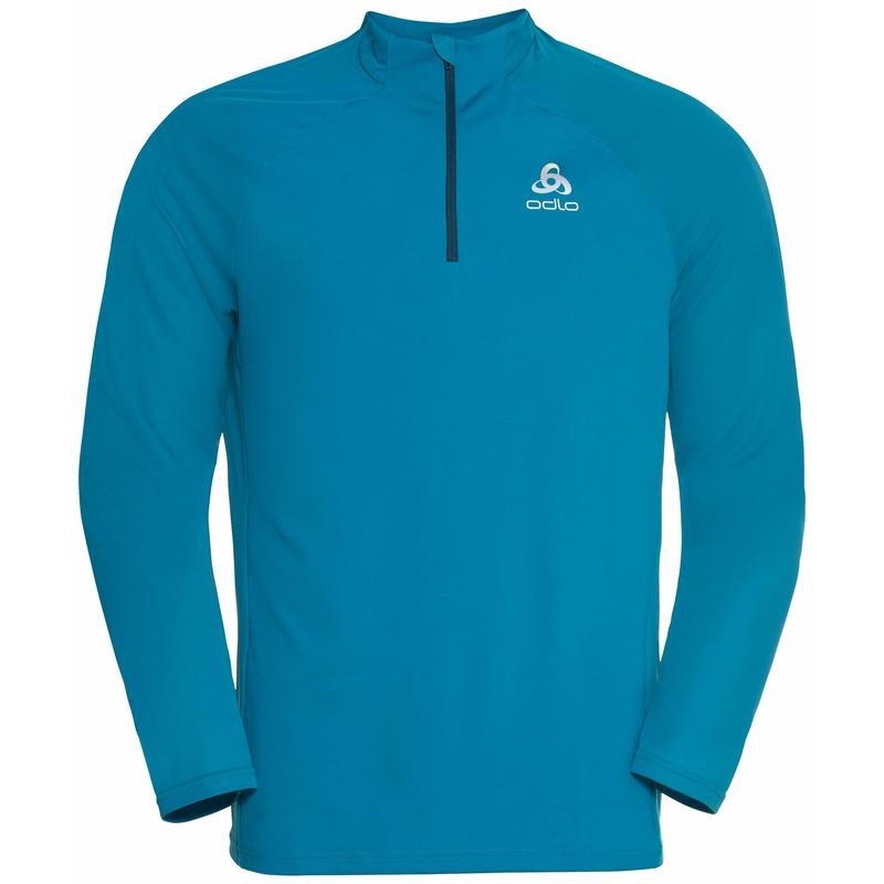 The Essential Ceramiwarm mid layer half zip, stunning blue, large